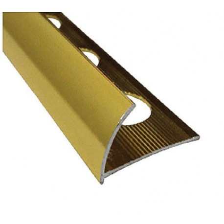PERFIL ALUMINIO GOLD POLISH 10 x 2.47 cm